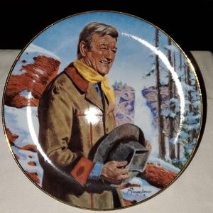 Franklin Mint collectible plate with John Wayne